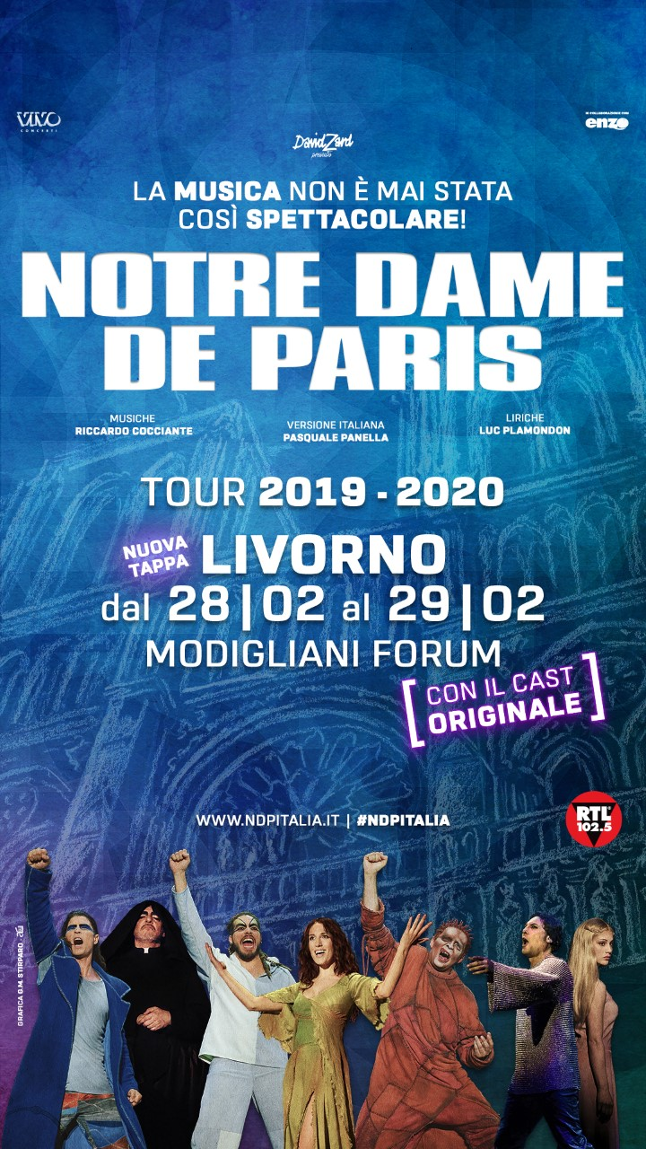 Cast notre dame de paris 2020
