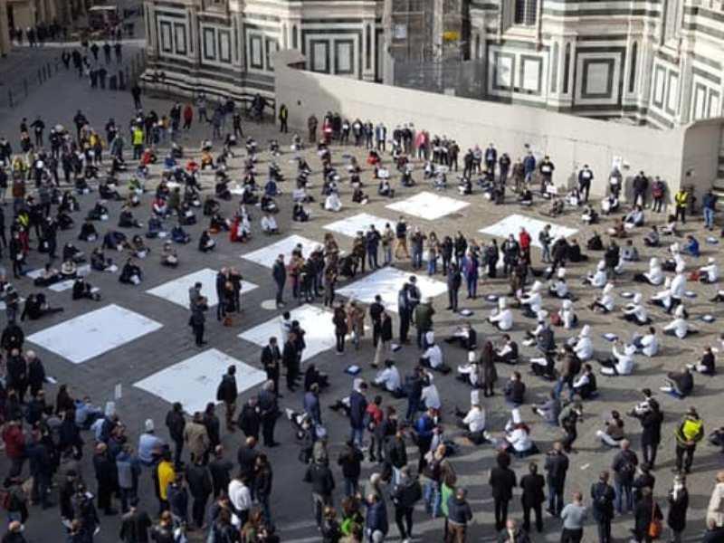 #SiamoATerra, la ristorazione manifesta a Firenze