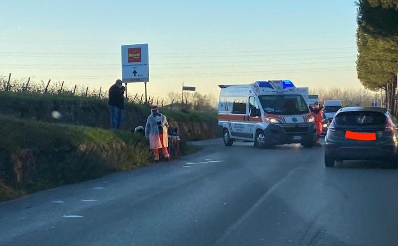 Incidente di prima mattina a Mercatale, ferito 24enne