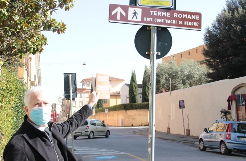 Turismo a Pisa, sette nuovi cartelli guidano verso i Bagni di Nerone