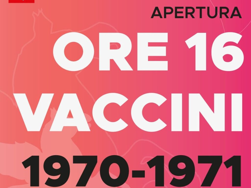 Vaccini classe 1970-1971, prenotazioni aperte