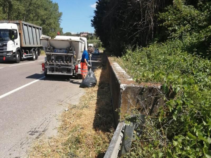 Ben 3.700 kg di rifiuti tolti dalle strade di Fucecchio a luglio